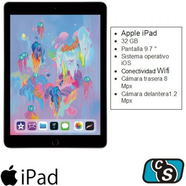 TABLET APPLE IPAD 9.7 32GB SPACE GRAY WI FI MR7F2LE/A